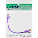 InLine® Patchkabel, S/FTP (PiMf), Cat.6, 250MHz, PVC, Kupfer, purple, 0,3m