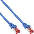 InLine® Patchkabel, S/FTP (PiMf), Cat.6, 250MHz, PVC, Kupfer, blau, 20m