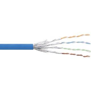 InLine® Patchkabel Cat.6 S/FTP (PiMf), blau, AWG27, PVC, CU, 100m