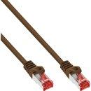 InLine® Patchkabel, S/FTP (PiMf), Cat.6, 250MHz, PVC, Kupfer, braun, 1,5m