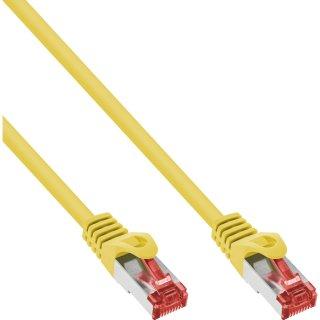 InLine® Patchkabel, S/FTP (PiMf), Cat.6, 250MHz, PVC, CCA, gelb, 0,3m