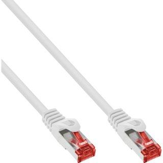 InLine® Patchkabel, S/FTP (PiMf), Cat.6, 250MHz, PVC, CCA, weiß, 7,5m