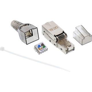 InLine® RJ45 Stecker Cat.6A 500MHz, feldkonfektionierbar, geschirmt