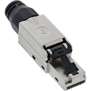 InLine® RJ45 Stecker Cat.8.1 2000MHz, feldkonfektionierbar, geschirmt, mit Schraubverschluss