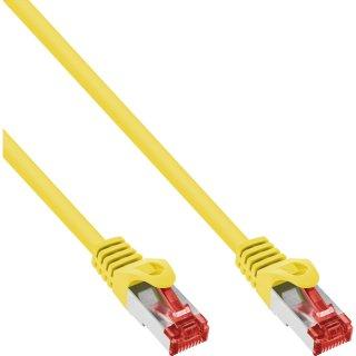 70er Bulk-Pack InLine® Patchkabel, S/FTP (PiMf), Cat.6, 250MHz, PVC, Kupfer, gelb, 1m