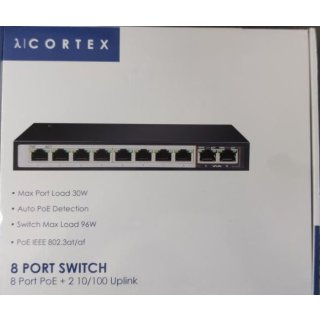 Cortex 8 Port PoE Switch