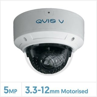 QVIS 5MP Viper IP Anti-Vandalismus CCTV Kamera mit motorisiertem Varioobjektiv (Weiß)